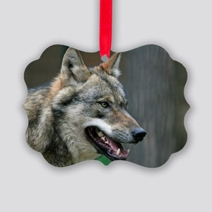 Wolf 002 Picture Ornament