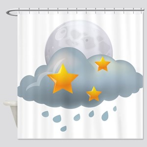 Rain - Weather - Storm Shower Curtain