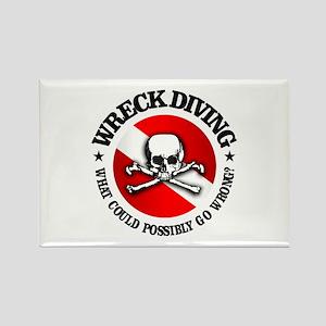 Wreck Diving (Skull) Rectangle Magnet
