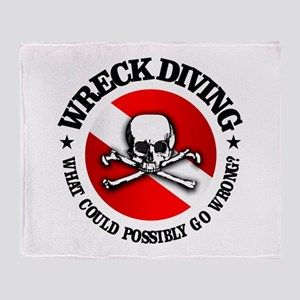 Wreck Diving (Skull) Throw Blanket