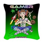 gamergirlsquare Woven Throw Pillow