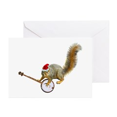 Christmas Banjo Squirrel Greeting Cards (Pk of 20)