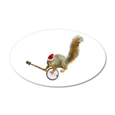 Christmas Banjo Squirrel Wall Decal