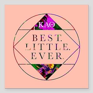 """Kappa Alpha Theta Best L Square Car Magnet 3"""" x 3"""""""