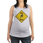 crossing-sign-budgie Maternity Tank Top