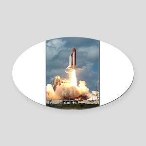 Space - Shuttle - NASA Oval Car Magnet
