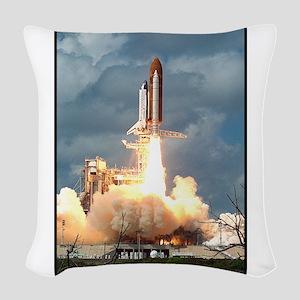 Space - Shuttle - NASA Woven Throw Pillow