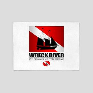 Wreck Diver (Ship) 2 5'x7'Area Rug