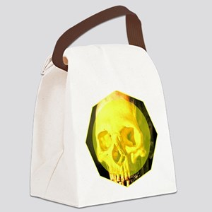 Skull - Death - Skeleton - Yellow Canvas Lunch Bag