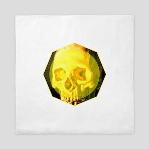 Skull - Death - Skeleton - Yellow Queen Duvet