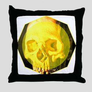 Skull - Death - Skeleton - Yellow Throw Pillow
