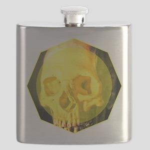 Skull - Death - Skeleton - Yellow Flask
