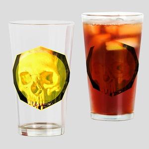 Skull - Death - Skeleton - Yellow Drinking Glass