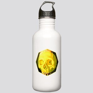 Skull - Death - Skeleton - Yellow Water Bottle