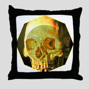 Skull - Death - Skeleton - Tech Throw Pillow