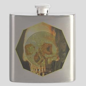 Skull - Death - Skeleton - Tech Flask