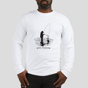 Personalized Gone Fishing Long Sleeve T-Shirt