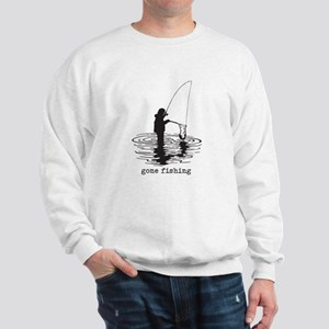 Personalized Gone Fishing Sweatshirt