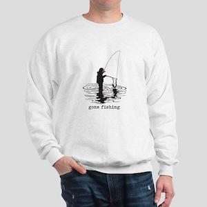 Personalized Gone Fishing Sweatshirt
