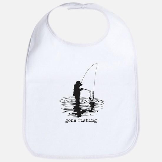 Personalized Gone Fishing Bib