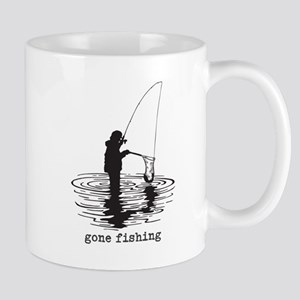 Personalized Gone Fishing Mug