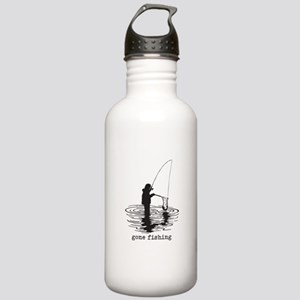Personalized Gone Fishing Stainless Water Bottle 1