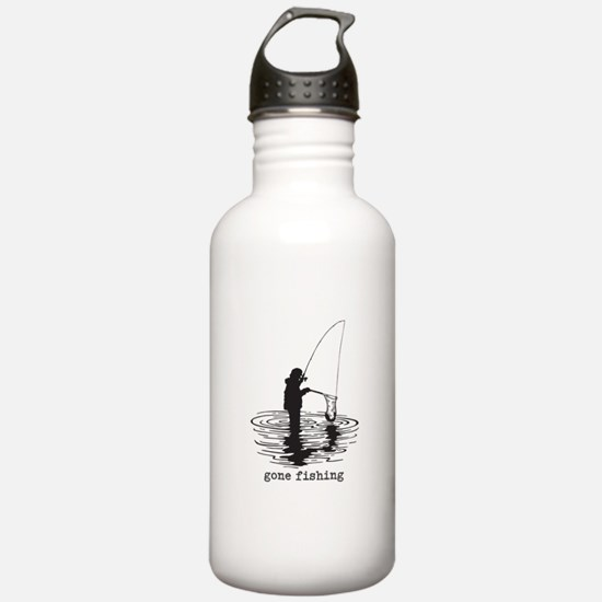Personalized Gone Fishing Water Bottle