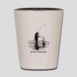 Personalized Gone Fishing Shot Glass