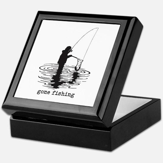 Personalized Gone Fishing Keepsake Box