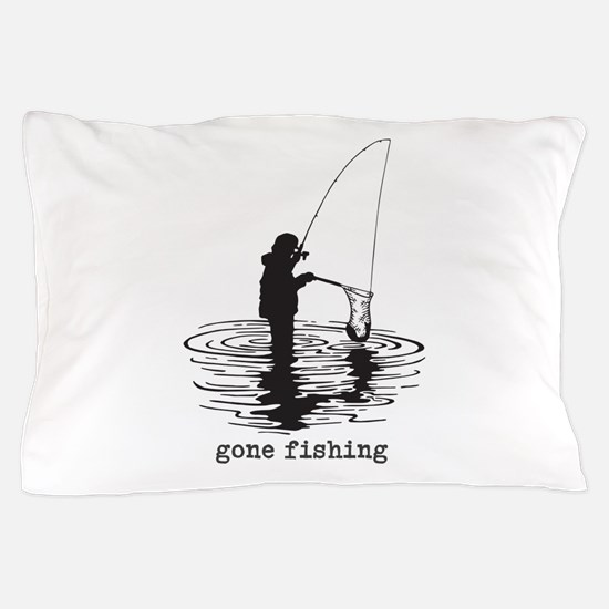 Personalized Gone Fishing Pillow Case
