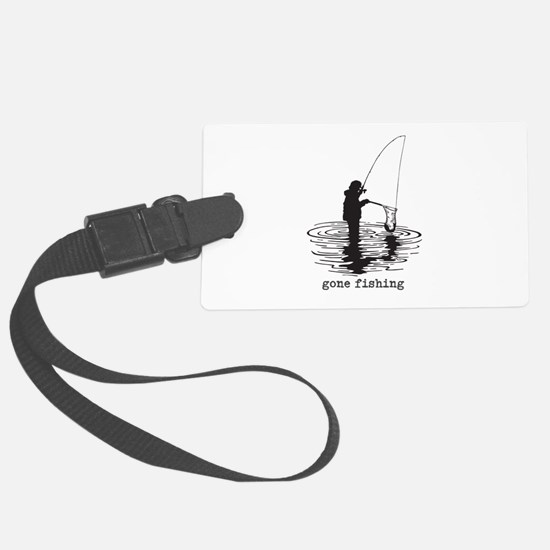 Personalized Gone Fishing Luggage Tag
