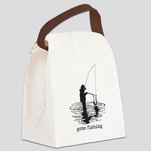 Personalized Gone Fishing Canvas Lunch Bag
