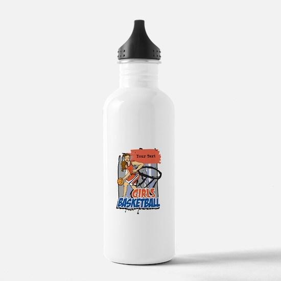 Personalized Girls Basketball Water Bottle