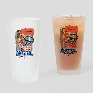 Personalized Girls Basketball Drinking Glass