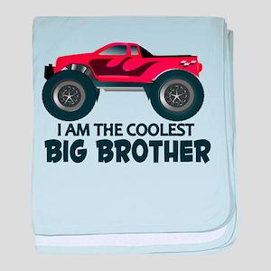 Coolest Big Brother - Truck baby blanket