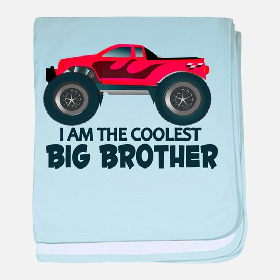 Coolest Big Brother - Truck baby blanket
