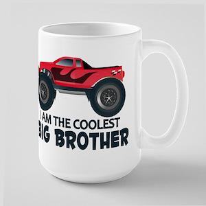 Coolest Big Brother - Truck Large Mug