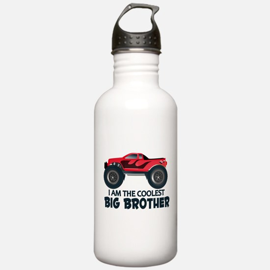 Coolest Big Brother - Truck Sports Water Bottle
