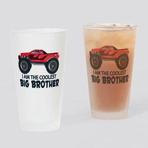 Coolest Big Brother - Truck Drinking Glass