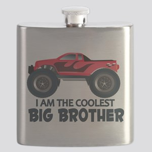 Coolest Big Brother - Truck Flask