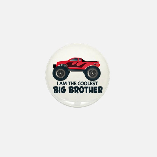 Coolest Big Brother - Truck Mini Button