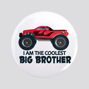 "Coolest Big Brother - Truck 3.5"" Button"