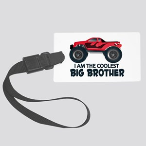 Coolest Big Brother - Truck Large Luggage Tag