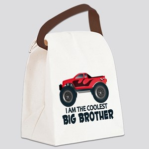 Coolest Big Brother - Truck Canvas Lunch Bag