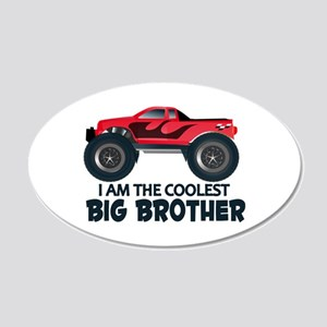 Coolest Big Brother - Truck 20x12 Oval Wall Decal