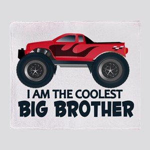 Coolest Big Brother - Truck Throw Blanket