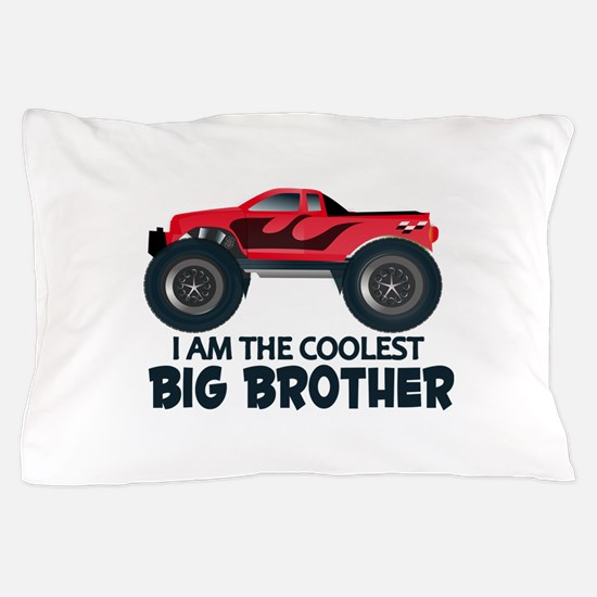 Coolest Big Brother - Truck Pillow Case