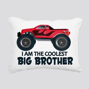 Coolest Big Brother - Truck Rectangular Canvas Pil