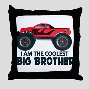 Coolest Big Brother - Truck Throw Pillow
