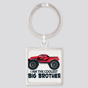 Coolest Big Brother - Truck Square Keychain